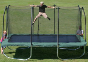 image of 14 foot summit rectangle trampoline w enclosure 1