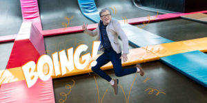 Bill Gates Trampoline Room