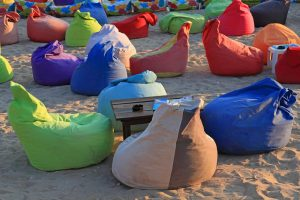 Bean Bag Chairs on Beach